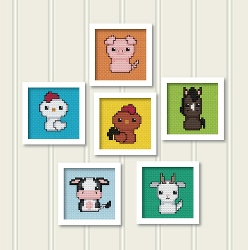 Born in a Barn Cross Stitch Collection 1