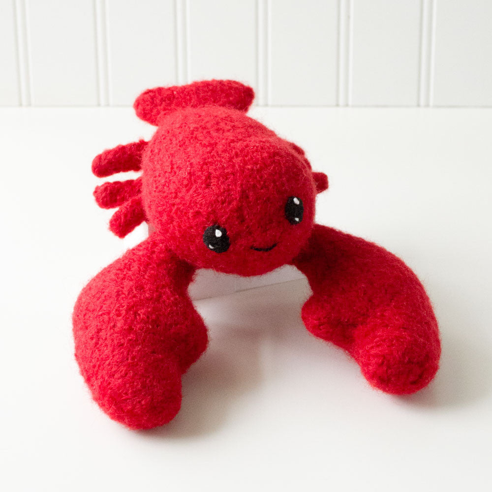 Adorblings™ Surf's Up! 1: Lobster, Octopus, Clam Felted Knit Amigurumi Pattern, 4 inch - CraftyAlien.com