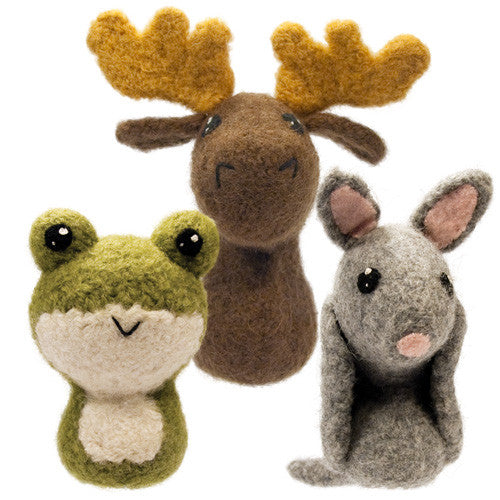 Adorblings™ Backyard Critters 6: Frog, Moose, Armadillo Felted Knit Amigurumi Pattern, 4 inch - CraftyAlien.com