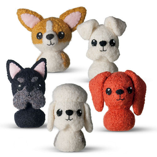 CraftyAlien Adorblings™ In the Doghouse 1: Scottie, Corgi, Sealyham, Dandy Dinmont, Miniature Dachshund Felted Knit Amigurumi Pattern, 4 inch