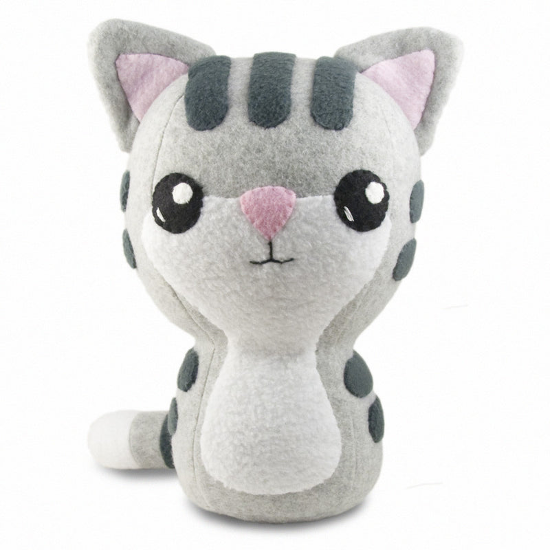 "Gray Tabby Kitty Plushie Stuffed Toy - Large - 10"" - CraftyAlien.com"