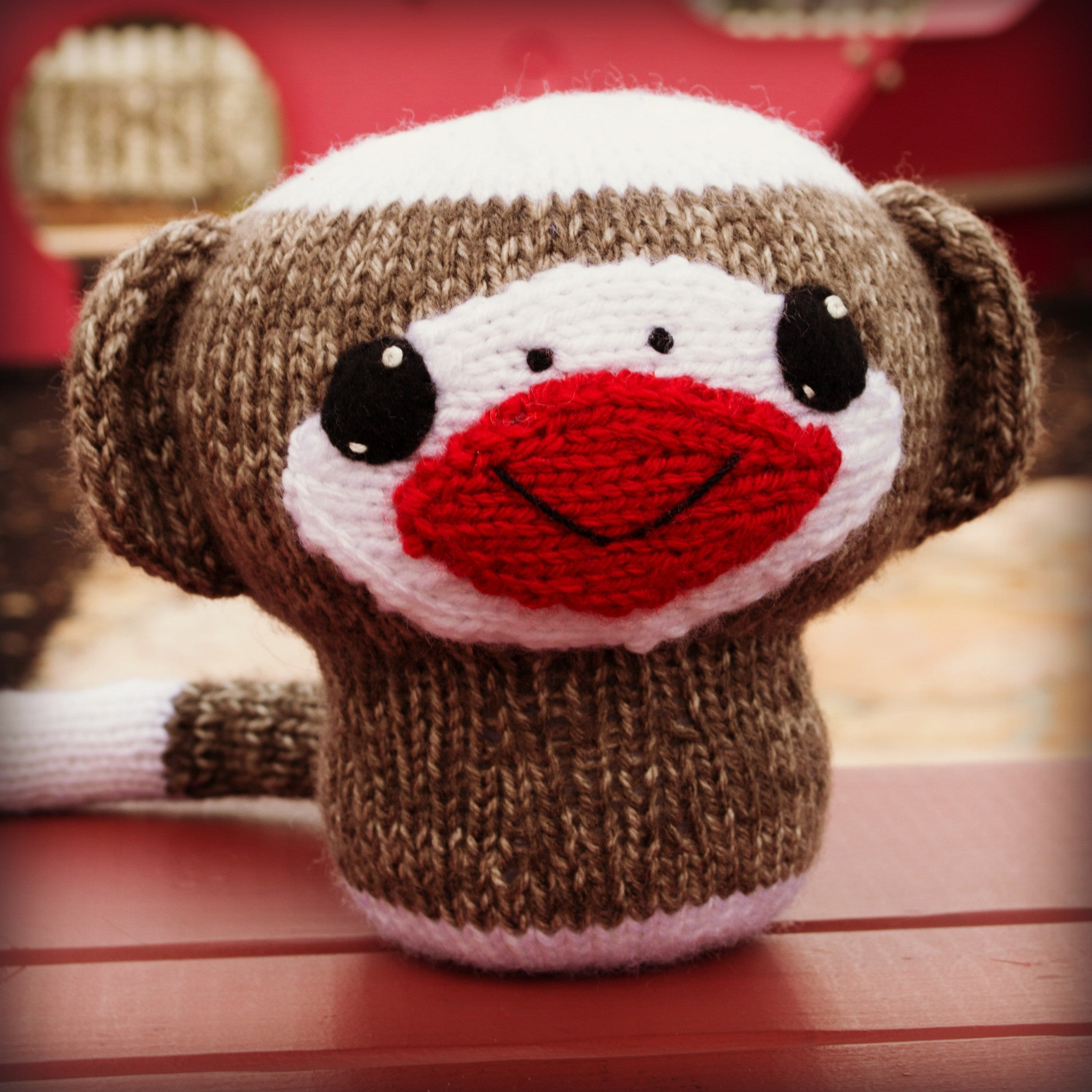 Knit Amigurumi Sock Monkey Pattern, 8 inch - CraftyAlien.com