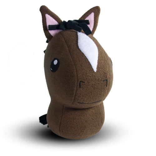 "Brown Horse Plushie Stuffed Toy - Large - 10"" - CraftyAlien.com"