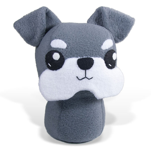 "Adorblings™ Miniature Schnauzer Plushie Stuffed Toy - Large - 9"" - CraftyAlien.com"