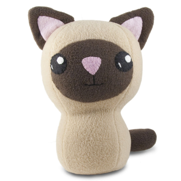 "Siamese Kitty Plushie Stuffed Toy - Large - 10"" - CraftyAlien.com"