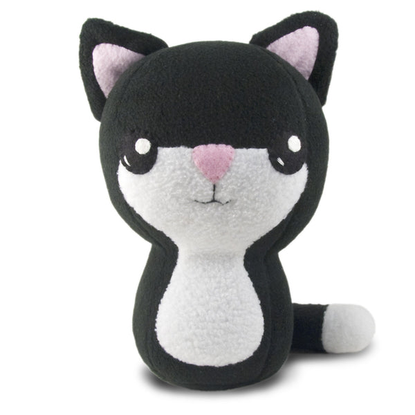 "Tuxedo Kitty Plushie Stuffed Toy - Large - 10"" - Plush - CraftyAlien.com"