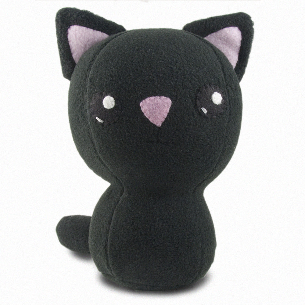 "Adorblings™ Black Kitty Plushie Stuffed Toy - Large - 10"" - Plush - CraftyAlien.com"