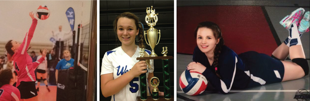 story of high school volleyball player Jessica trophy team spike