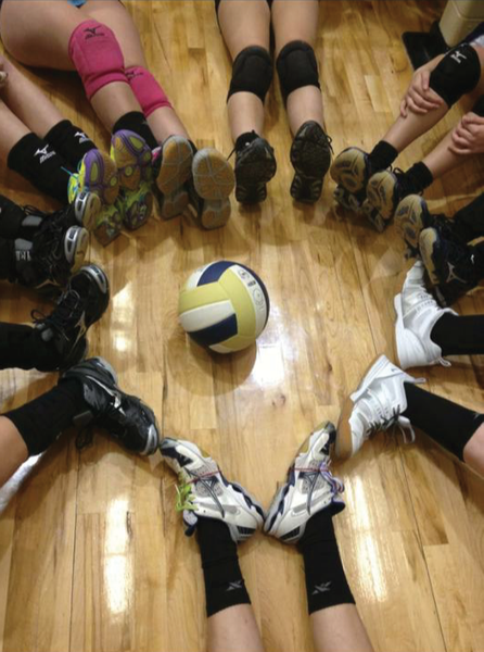 story of high school volleyball player Jessica team feet