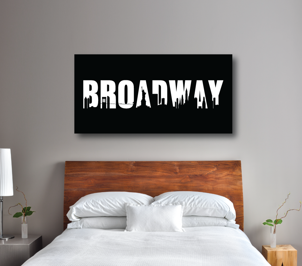 Broadway Theatre Sign Gallery Wrapped Canvas   Wall Poster Art   Girls,  Boys, Teens ...