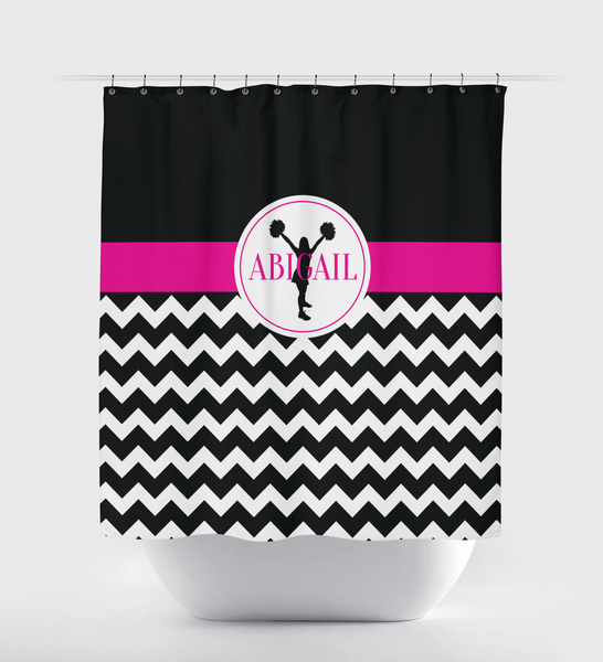 Chevron Cheer Custom Shower Curtain