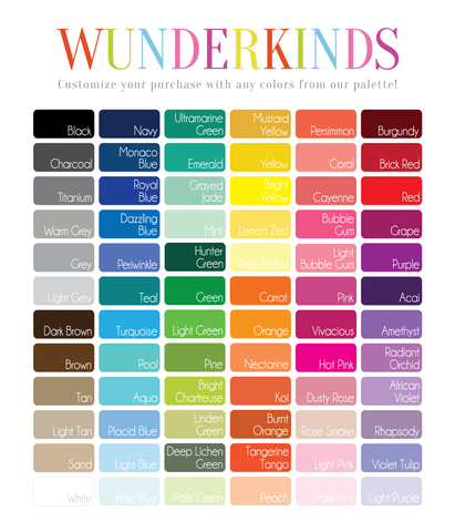 Wunderkinds Color Palette on Shower Curtain Material