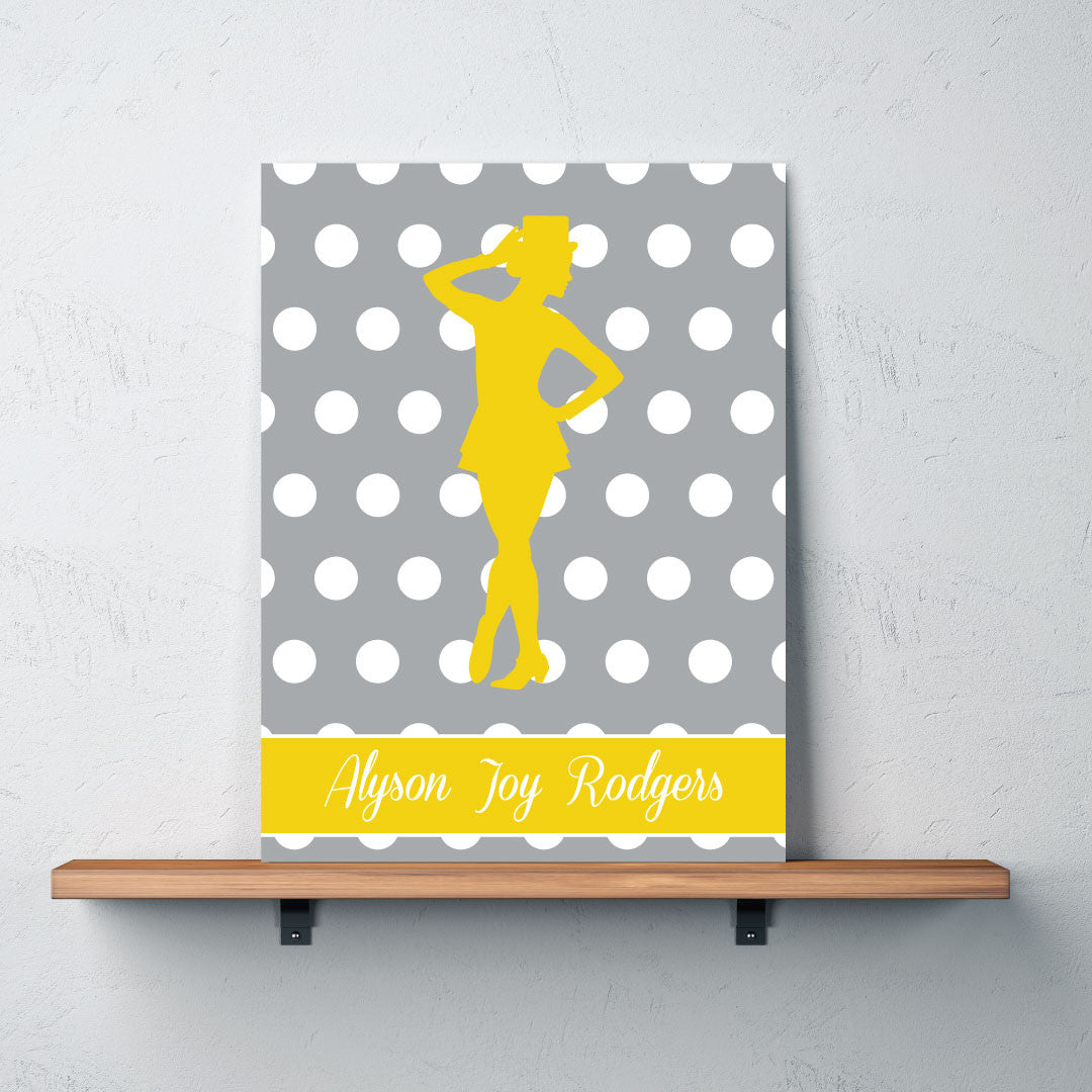 Dance Silhouette Canvas Personalized w/Name - Teen Girls – Shop ...