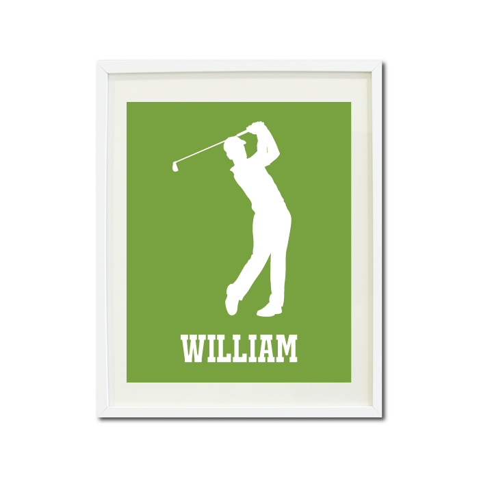 ... Golf Wall Art Print For Boys   Monogrammed Art Print For Teens   Golfer  Sports Gift ...