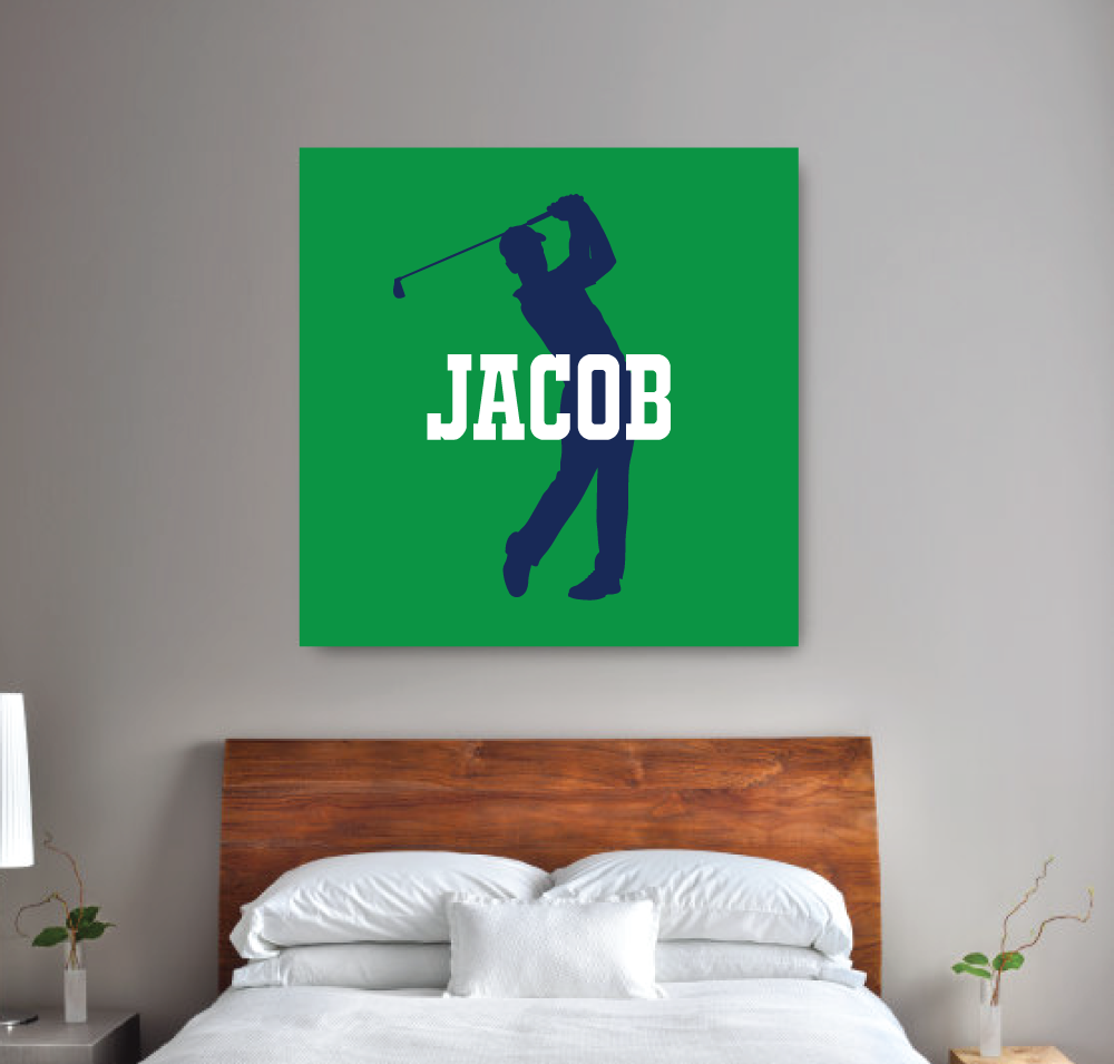 Monogram Custom Golf Canvas Wall Art   Teen Boy Wall Art   College Dorm  Room Decor ...