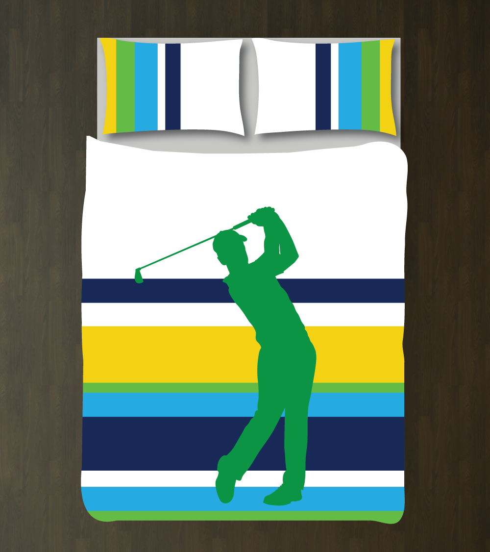 Multi Striped Golf Bedding Custom Golfer Duvet Cover Set Boys Room Decor  Sports Golf Multi Striped Duvet Cover Set For Boys Room Golfer ShopGolf Decorated Rooms  Great golf room idea My hubby would be in  . Golf Decorated Rooms. Home Design Ideas