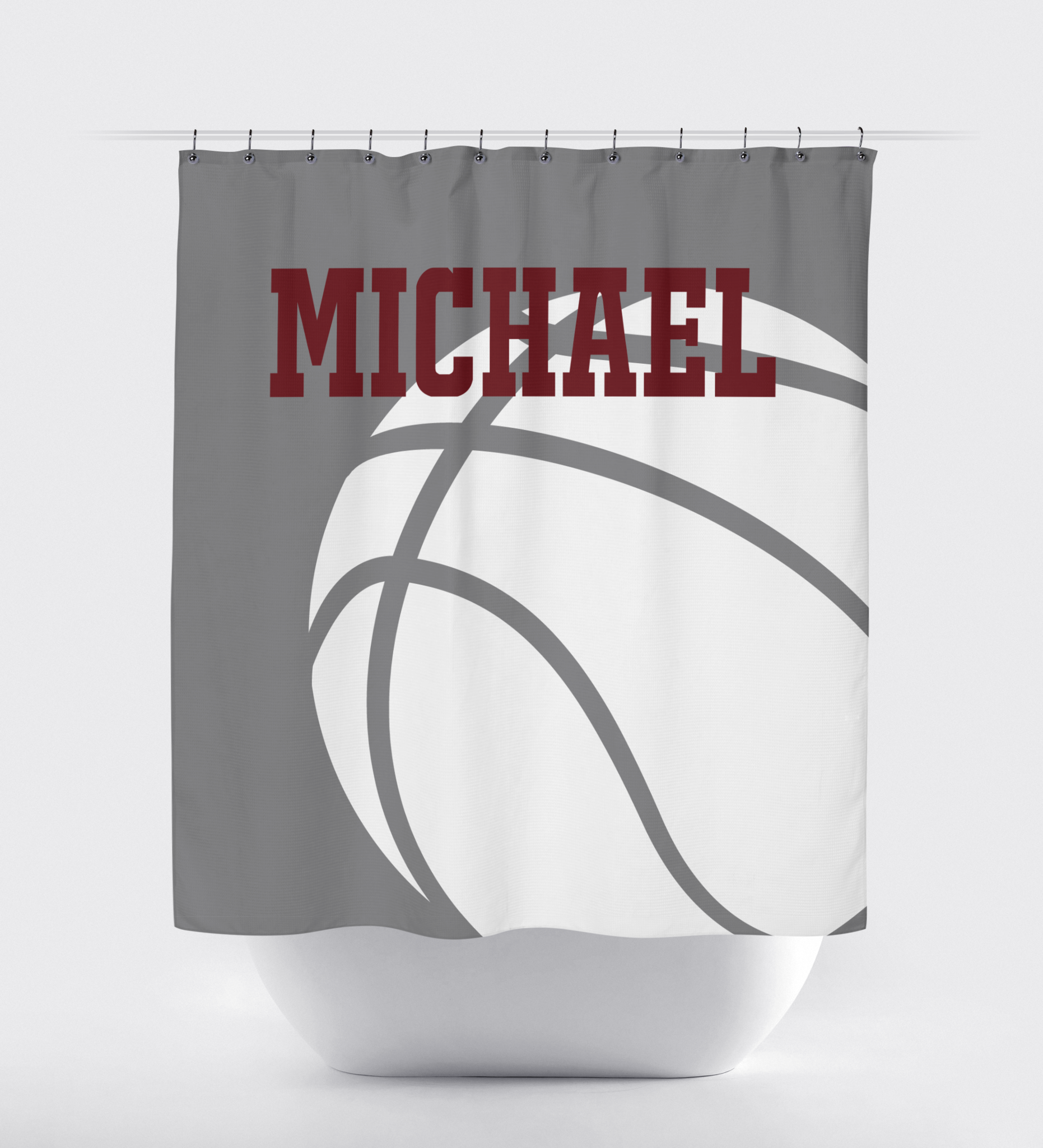 Basketball Player Shower Curtain For Boys And Girls Shop Wunderkinds