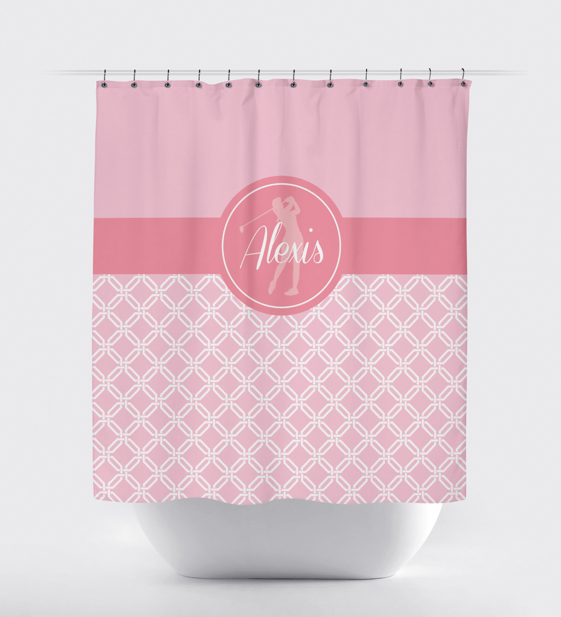 Personalized Golf Shower Curtain For Girls And Teens Shop Wunderkinds