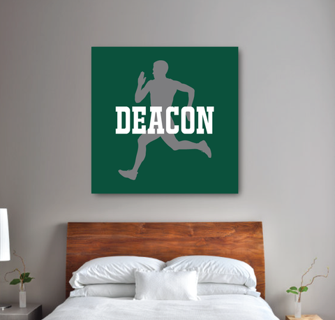 Personalized Runner Canvas with Silhouette and Name | Hunter Green, Titanium, White | Choose ANY Colors