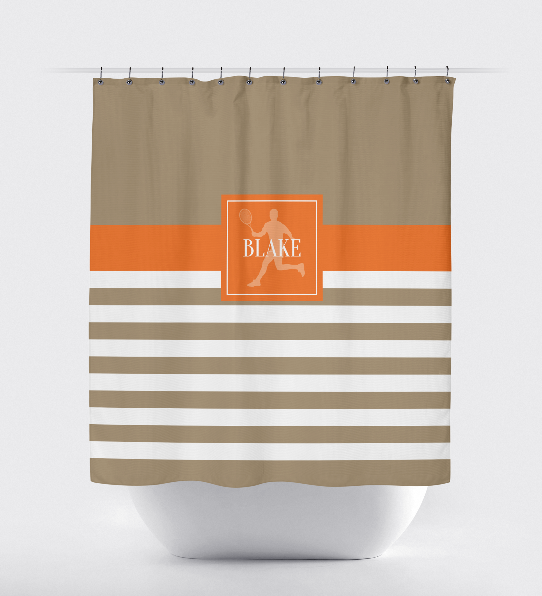 Personalized Tennis Shower Curtain