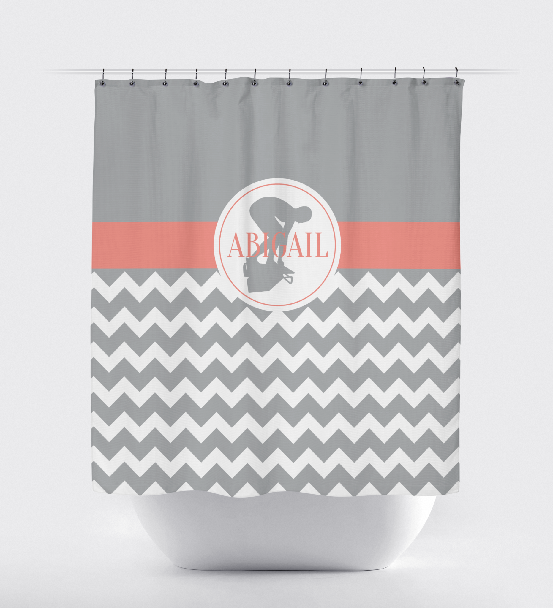 Emejing White And Coral Shower Curtain Contemporary - Best image ...