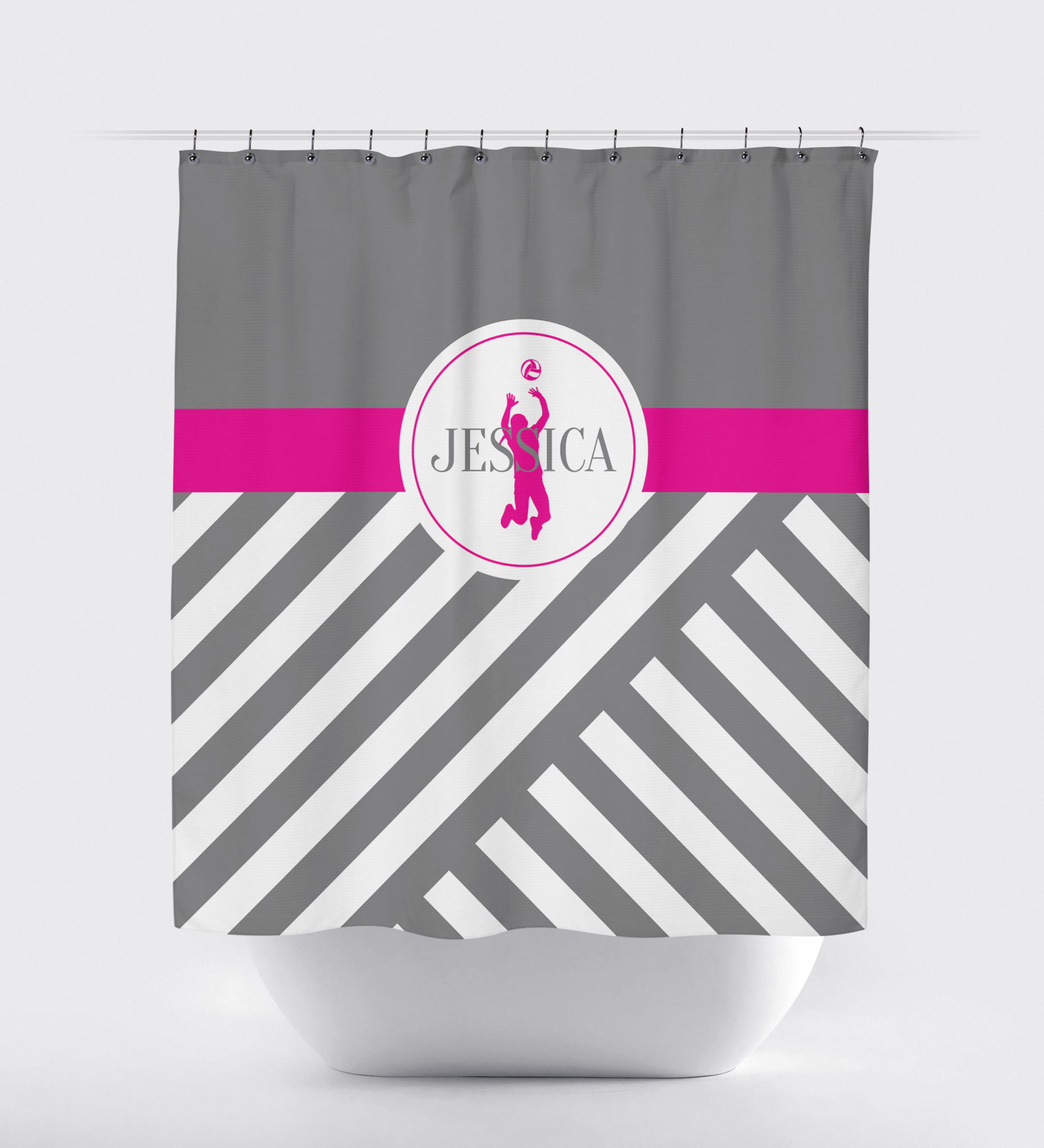 Black and white monogrammed shower curtain - Black And White Monogram Shower Curtain
