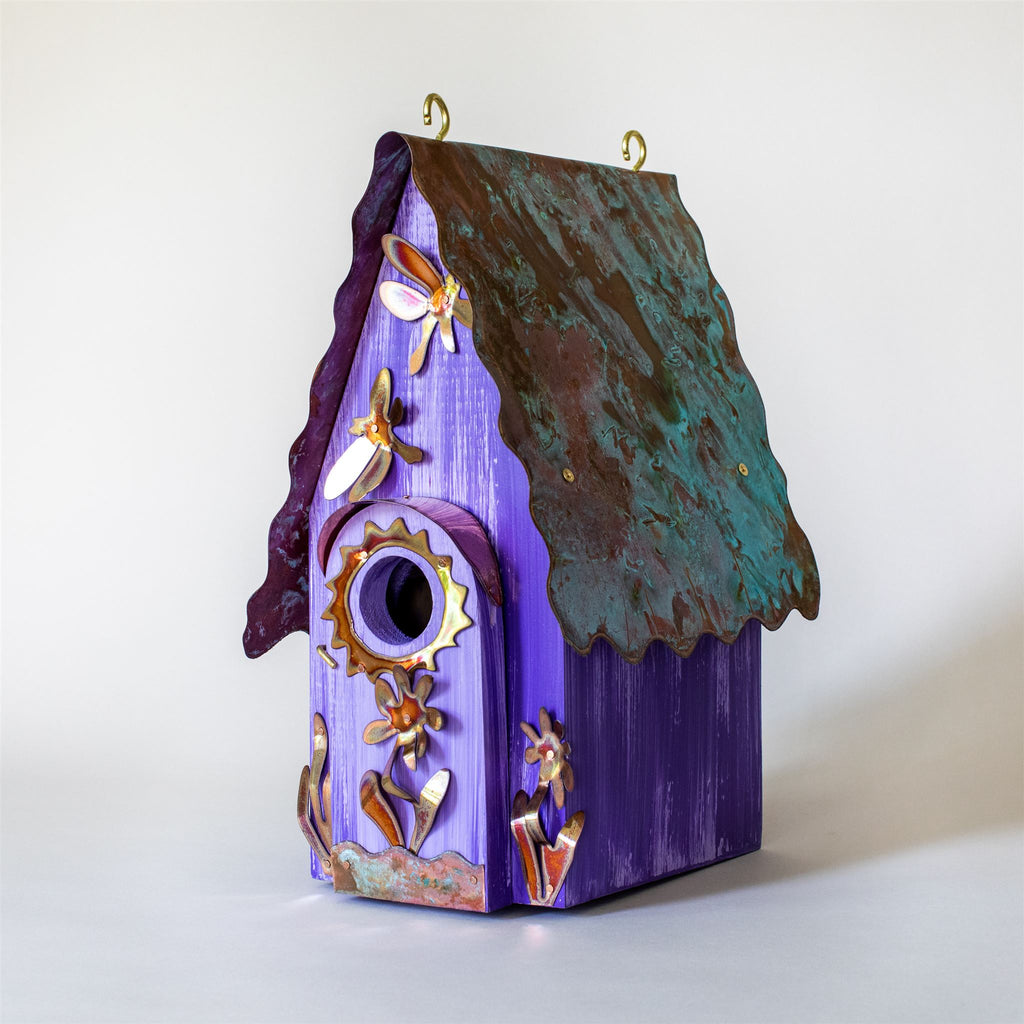Dragonflies and Flowers Birdhouse