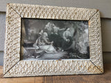 Antique Lithograph of Jesus Weeping in Antique Frame