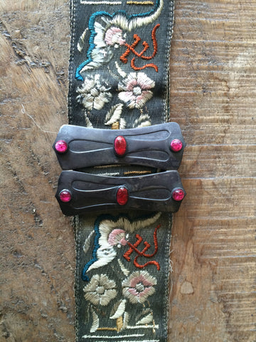 1920's Art Nouveau Belt with Original Asian Motif