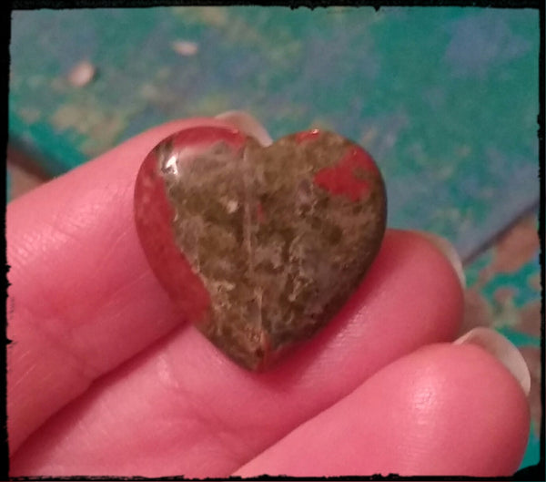 Unakite Special Heart for Relationship Clearing & Happiness