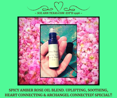 Spicy Amber Rose Oil Blend. Uplifting, Soothing, Heart Connecting & More! ArchAngel Connected!!