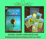 Animal Spirit Card Deck with Added Personalized Touches Just for You!