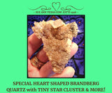 Brandberg Quartz. Heart Shape, Point & Star Cluster!