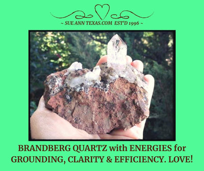 Brandberg Quartz. Super Clear & Grounding, Clarity & Efficiency Energies. I Just Love This One.... Can't Quite Explain It :) - SueAnnTexas.Com & The Shoppe