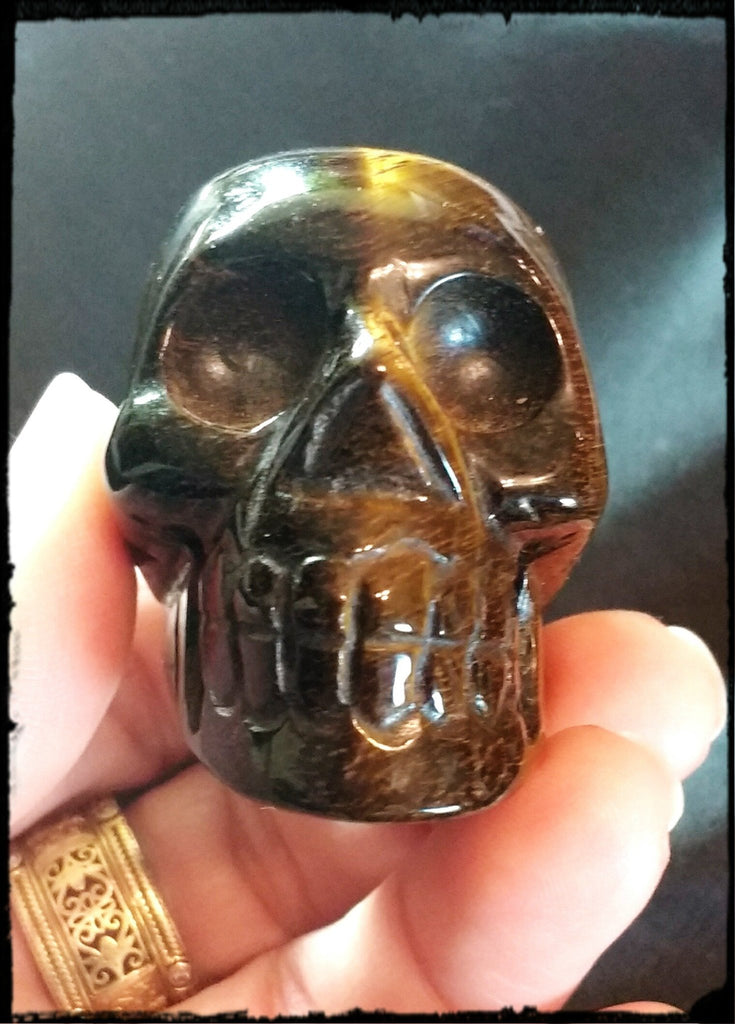 Golden Tiger Eye Skull of Good Fortune - SueAnnTexas.Com & The Shoppe