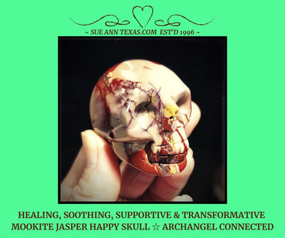 Mookite Jasper Happy Skull with Healing, Soothing, Supportive & Transformative Vibes!! - SueAnnTexas.Com & The Shoppe