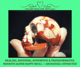 Mookite Jasper Happy Skull with Healing, Soothing, Supportive & Transformative Vibes!!