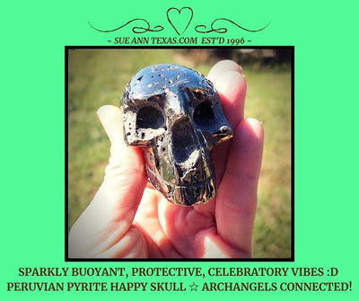Peruvian Pyrite Happy Skull with Buoyant, Protective & Very Celebratory Vibes!!