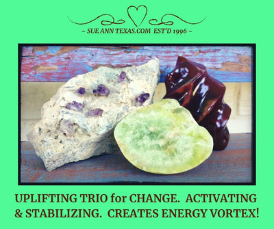 Power Deal: Trio for Uplifting Change. Creates Energy Vortex! Grounding, Activating & Stabilizing. Special Set & Price.