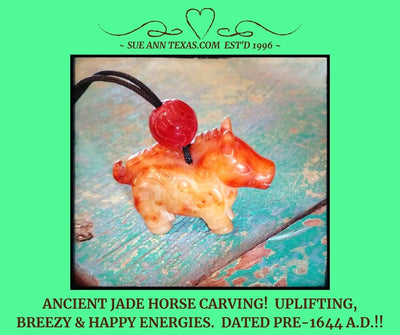 Rare Ancient Horse Dated Pre-1644 A.D. Energies for Breezy Enlightenment, Uplifted Attitude, Life Perspective!