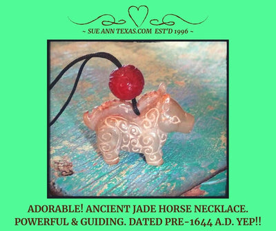 Rare Ancient Horse Dated Pre-1644 A.D. with Wise, Wonderful, Happy & Elevating Guide Energies! - SueAnnTexas.Com & The Shoppe