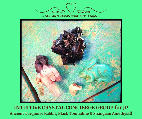 SOLD: For JP. Concierge Service. Special Ancient Rabbit, Black Tourmaline & Shangaan Amethyst!! - SueAnnTexas.Com & The Shoppe