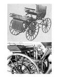 "Printed Full Size Drawings 1886 Daimler Scale 1:12  Length 8""  Width 4 ¼""  Height 5"