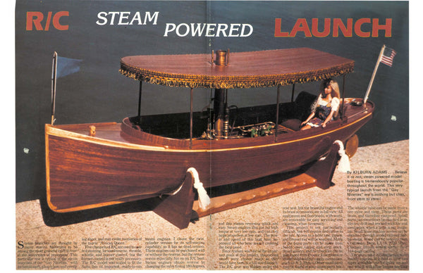 "victorian steam power Launch 40 1/2"" Steam or electric full size print – Vintage Model Plans"