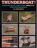 "FULL SIZE PLANS standoff scale 1/8 ""MISS U. S.""  Unlimited Hydroplane L 44"" for radio control"