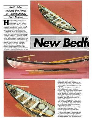 "Full Size Printed Plan Scale 1:24  Display  ""NEW BEDFORD WHALE BOAT"""