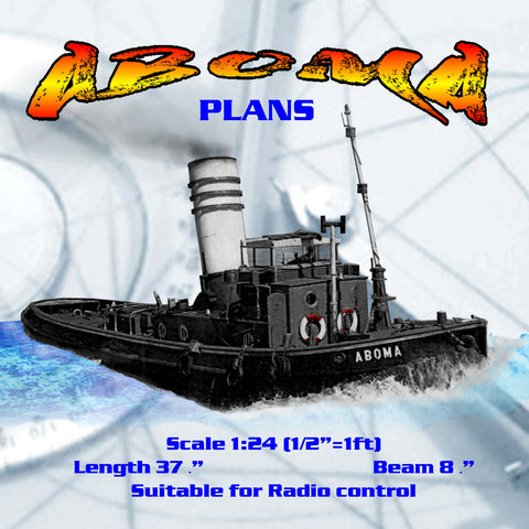 Build ABOMA  Diesel Tug 1930 era Scale 1:24 printed plans
