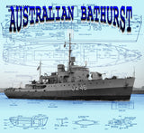 Buil a 1:96 scale Bathurst class minesweeping corvette for R/C Full size printed plans