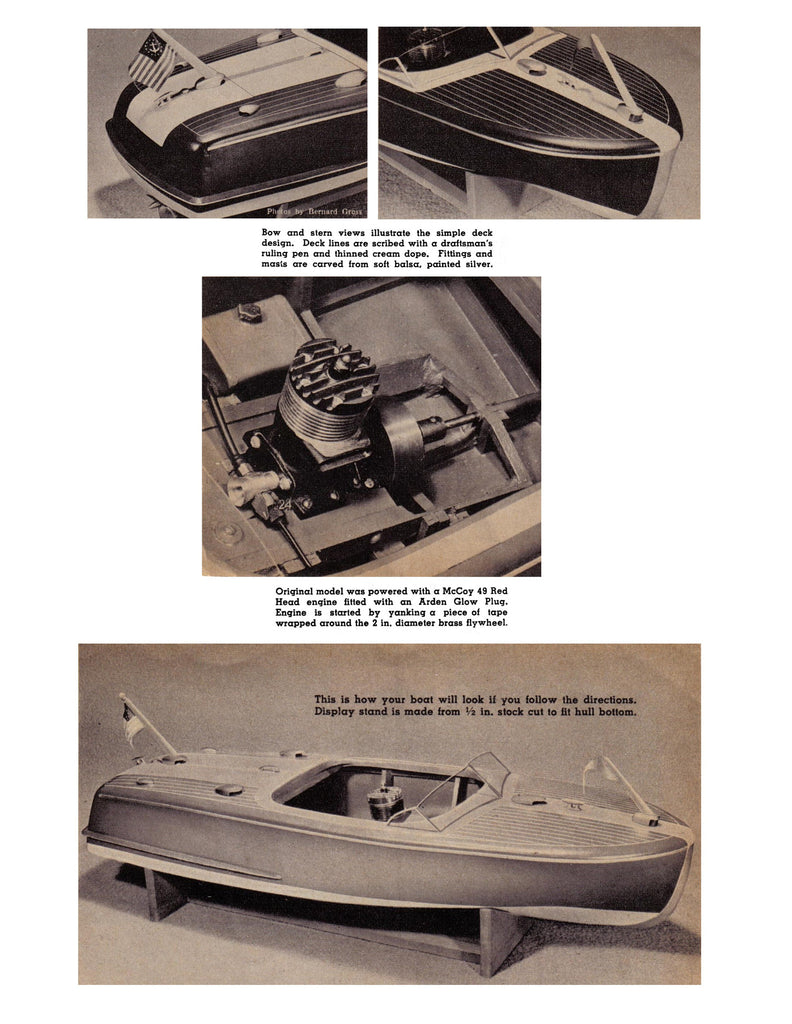 Chris Craft 20 Runabout 30 Bouncie Ii 18 Scale Full Size Printed Model A Engine Diagram