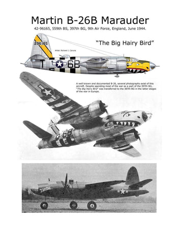 Full Size Printed Plan Scale 1:16 Control Line Martin B-26 Marauder You may wish to convert to Radio Control